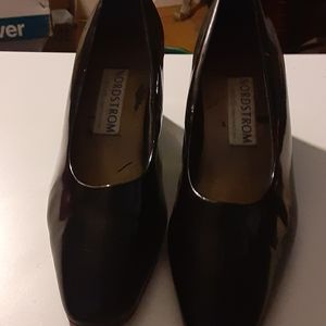 Nordstrom black patent leather shoe